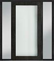 DB-PVT-001 2SL18 48x96 Single with 2 Sidelites Pivot Door