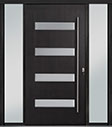 DB-PVT-004 2SL18 48x96 Single with 2 Sidelites Pivot Door