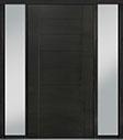DB-PVT-711 2SL18 48x96 Single with 2 Sidelites Pivot Door