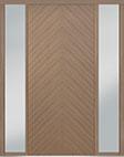 DB-PVT-715 2SL18 48x108 Single with 2 Sidelites Pivot Door