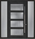 DB-PVT-823 2SL18 48x96 Single with 2 Sidelites Pivot Door