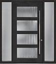 DB-PVT-823 2SL18 48x96 Single with 2 Sidelites Pivot Door