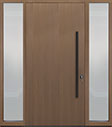 DB-PVT-A1 2SL18 48x96 Single with 2 Sidelites Pivot Door