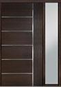 DB-PVT-B1 1SL18 48x96 Single with 1 Sidelite Pivot Door