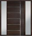DB-PVT-B1 2SL18 48x96 Single with 2 Sidelites Pivot Door