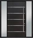 DB-PVT-B3 2SL18 48x96 Single with 2 Sidelites Pivot Door
