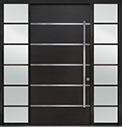 DB-PVT-B3 2SL24B 48x96 Single with 2 Sidelites Pivot Door