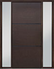DB-PVT-B4 2SL18 48x108 Single with 2 Sidelites Pivot Door