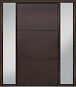 DB-PVT-B4 2SL18 48x96 Single with 2 Sidelites Pivot Door