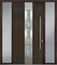 DB-PVT-C2 2SL18 48x96 Single with 2 Sidelites Pivot Door