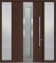 DB-PVT-F4 2SL18 48x96 Single with 2 Sidelites Pivot Door