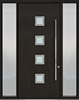 DB-PVT-H4 2SL18 48x108 Single with 2 Sidelites Pivot Door