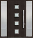 DB-PVT-H4 2SL18 48x96 Single with 2 Sidelites Pivot Door