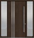 DB-PVT-L1 2SL18 48x96 Single with 2 Sidelites Pivot Door