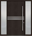 DB-PVT-L2 2SL18 48x96 Single with 2 Sidelites Pivot Door