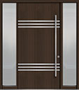 DB-PVT-L3 2SL18 48x96 Single with 2 Sidelites Pivot Door