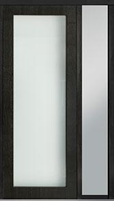 Custom Pivot Front  Door Example, Mahogany Wood Veneer-Espresso DB-PVT-001 1SL18 42x108