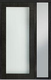 Custom Pivot Front  Door Example, Mahogany Wood Veneer-Espresso DB-PVT-001 1SL18 42x96