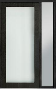 Custom Pivot Front  Door Example, Mahogany Wood Veneer-Espresso DB-PVT-001 1SL18 48x108