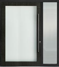 Custom Pivot Front  Door Example, Mahogany-Wood-Veneer-Espresso DB-PVT-001 1SL24 60x96