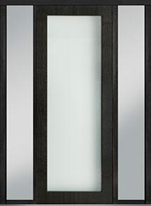Custom Pivot Front  Door Example, Mahogany Wood Veneer-Espresso DB-PVT-001 2SL18 42x108