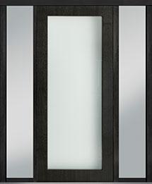 Custom Pivot Front  Door Example, Mahogany Wood Veneer-Espresso DB-PVT-001 2SL18 42x96