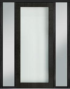 Custom Pivot Front  Door Example, Mahogany Wood Veneer-Espresso DB-PVT-001 2SL18 48x108