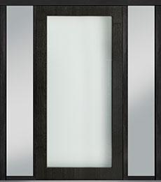 Custom Pivot Front  Door Example, Mahogany-Wood-Veneer-Espresso DB-PVT-001 2SL18 48x96