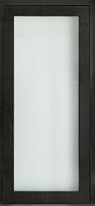 Custom Pivot Front  Door Example, Mahogany Wood Veneer-Espresso DB-PVT-001 48x108