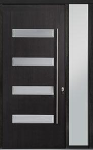 Custom Pivot Front  Door Example, Mahogany-Wood-Veneer-Espresso DB-PVT-004 1SL18 48x108