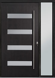 Custom Pivot Front  Door Example, Mahogany-Wood-Veneer-Espresso DB-PVT-004 1SL18 48x96