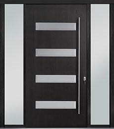 Custom Pivot Front  Door Example, Mahogany-Wood-Veneer-Espresso DB-PVT-004 2SL18 48x96