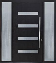 Custom Pivot Front  Door Example, Mahogany-Wood-Veneer-Espresso DB-PVT-004 2SL18 48x96 CST