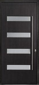Custom Pivot Front  Door Example, Mahogany-Wood-Veneer-Espresso DB-PVT-004 48x108