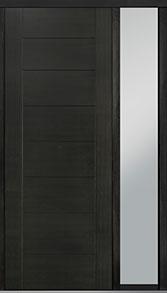 Custom Pivot Front  Door Example, Mahogany Wood Veneer-Espresso DB-PVT-711 1SL18 42x108