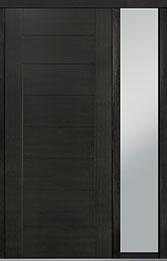 Custom Pivot Front  Door Example, Mahogany Wood Veneer-Espresso DB-PVT-711 1SL18 42x96