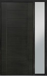 Custom Pivot Front  Door Example, Mahogany Wood Veneer-Espresso DB-PVT-711 1SL18 48x108