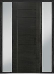 Custom Pivot Front  Door Example, Mahogany Wood Veneer-Espresso DB-PVT-711 2SL18 42x108