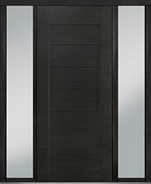 Custom Pivot Front  Door Example, Mahogany Wood Veneer-Espresso DB-PVT-711 2SL18 42x96