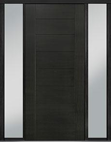 Custom Pivot Front  Door Example, Mahogany Wood Veneer-Espresso DB-PVT-711 2SL18 48x108