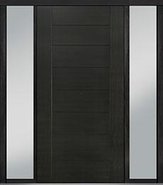 Custom Pivot Front  Door Example, Mahogany-Wood-Veneer-Espresso DB-PVT-711 2SL18 48x96