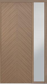 Custom Pivot Front  Door Example, Oak Wood Veneer-Light-Loft DB-PVT-715 1SL18 42x108