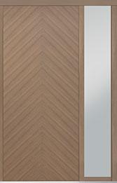 Custom Pivot Front  Door Example, Oak Wood Veneer-Light-Loft DB-PVT-715 1SL18 42x96