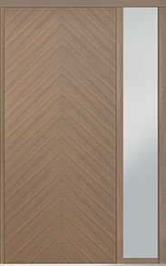 Custom Pivot Front  Door Example, Oak-Wood-Veneer-Light-Loft DB-PVT-715 1SL18 48x108