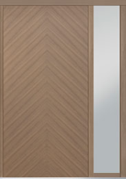 Custom Pivot Front  Door Example, Oak Wood Veneer-Light-Loft DB-PVT-715 1SL18 48x96