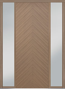 Custom Pivot Front  Door Example, Oak Wood Veneer-Light-Loft DB-PVT-715 2SL18 42x108