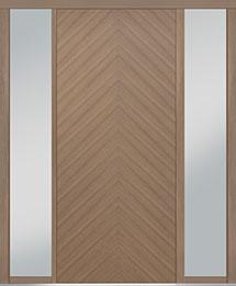 Custom Pivot Front  Door Example, Oak Wood Veneer-Light-Loft DB-PVT-715 2SL18 42x96