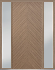 Custom Pivot Front  Door Example, Oak Wood Veneer-Light-Loft DB-PVT-715 2SL18 48x108