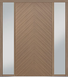 Custom Pivot Front  Door Example, Oak Wood Veneer-Light-Loft DB-PVT-715 2SL18 48x96