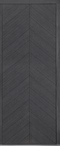 Custom Pivot Front  Door Example, Oak Wood Veneer-Gray-Oak DB-PVT-715 42x108